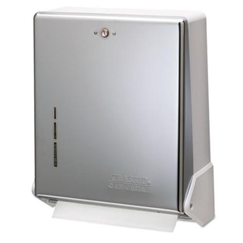 San Jamar True Fold C-Fold/Multifold Paper Towel Dispenser, Chrome, 11 5/8 x 5 x 14 1/2 (SAN T1905XC)