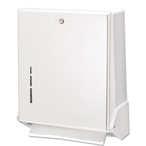 San Jamar True Fold C-Fold/Multifold Paper Towel Dispenser, White, 11 5/8 x 5 x 14 1/2 (SAN T1905WH)