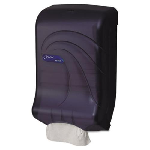 San Jamar Ultrafold Multifold/C-Fold Towel Dispenser, Oceans, Black, 11 3/4 x 6 1/4 x 18 (SAN T1790TBK)