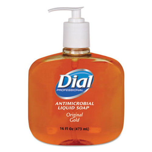 Dial Gold Antimicrobial Hand Soap, Floral Fragrance, 16oz Pump Bottle, 12/Carton (DIA 80790)