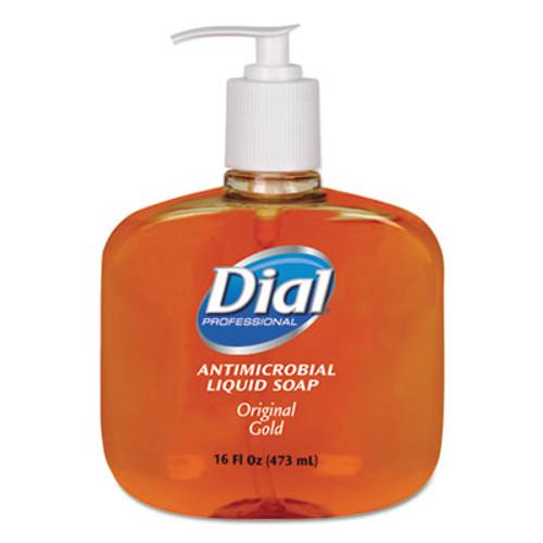 Dial Gold Antimicrobial Hand Soap, Floral Fragrance, 16oz Pump Bottle, 12/Carton (DIA 80790)