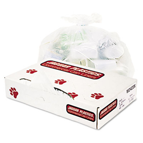 Jaguar Plastics Industrial Strength Commercial Can Liners, 8-10gal, .5mil, White, 500/Carton (JAG W2423X)