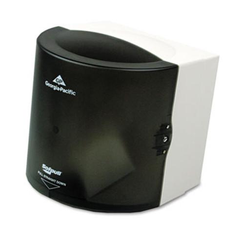 Georgia Pacific Center Pull Hand Towel Dispenser, 10 7/8w x 10 3/8d x 11 1/2h, Smoke (GPC 582-01)