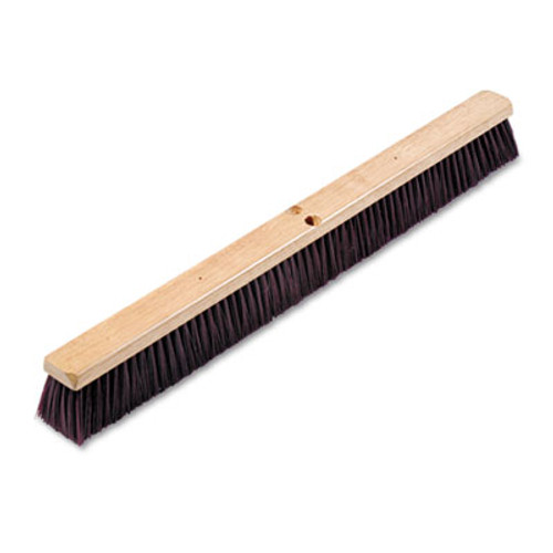 "Boardwalk Floor Brush Head, 3 1/4"" Maroon Stiff Polypropylene, 36"" (BWK 20336)"