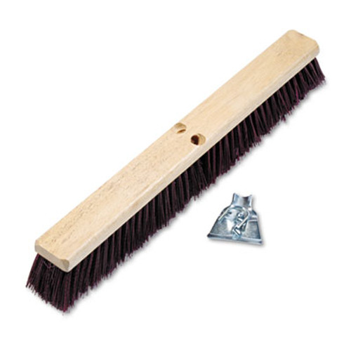"Boardwalk Floor Brush Head, 3 1/4"" Maroon Stiff Polypropylene, 24"" (BWK 20324)"