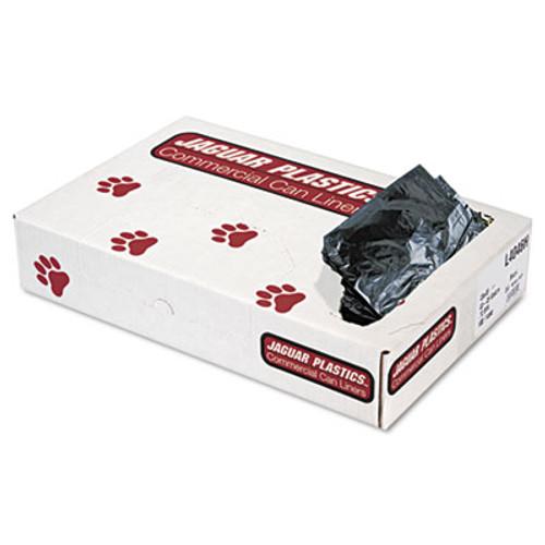 Jaguar Plastics Low-Density Can Liners, 40-45 Gallon, .7mil, Black, 100/Carton (JAG L4046H)