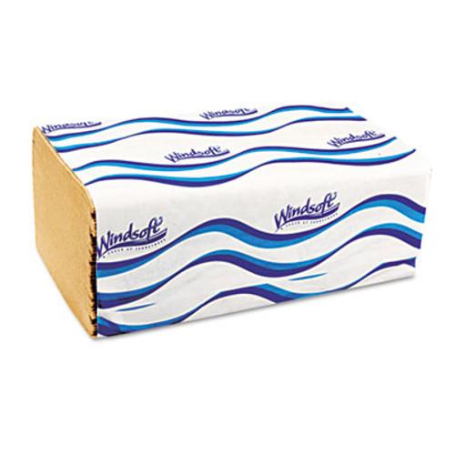 Windsoft Embossed Singlefold Towels, 9 3/10 x 10 1/2, Natural, 250/Pack, 16 Packs/Carton (WIN 106)