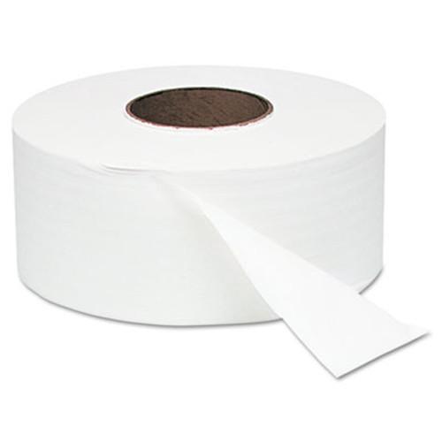 "Windsoft White Jumbo Roll Bath Tissue, 9"" dia, 1000ft, 12 Rolls/Carton (WIN 202)"