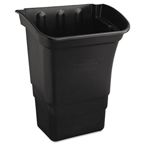 Rubbermaid Optional Utility Cart Refuse/Utility Bin, Rectangular, 8gal, Black (RCP 3353-88 BLA)