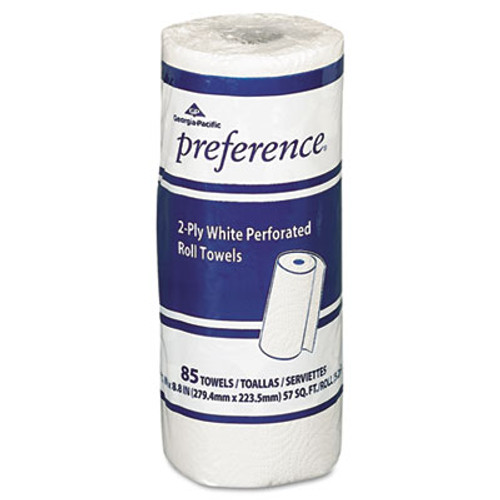 Georgia Pacific Perforated Paper Towel Roll, 8 4/5 x 11, White, 85/Roll, 30 Rolls/Carton (GPC 273-85)
