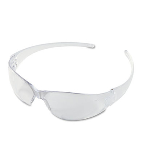 Crews Checkmate Wraparound Safety Glasses, CLR Polycarbonate Frame, Coated Clear Lens (CWS CK110)