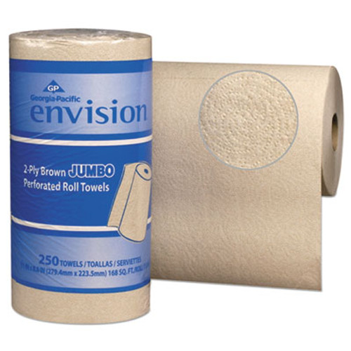 Georgia Pacific Perforated Paper Towel, 11 x 8 4/5, Brown, 250/Roll, 12/Packs/Carton (GPC 282-90)