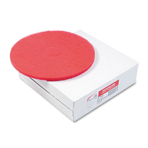 "Boardwalk Standard Floor Pads, 20"" Diameter, Red, 5/Carton (PAD 4020 RED)"