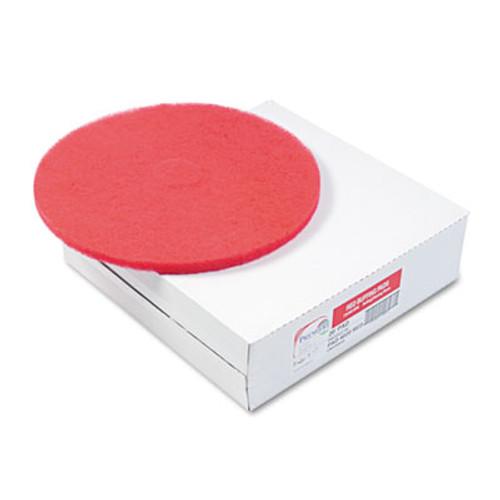 "Boardwalk Standard Floor Pads, 20"" Diameter, Red, 5/Carton (PAD 4020 RED)"