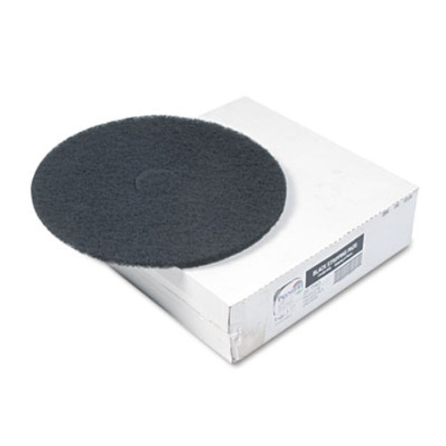 "Boardwalk Standard Floor Pads, 20"" Diameter, Black, 5/Carton (PAD 4020 BLA)"