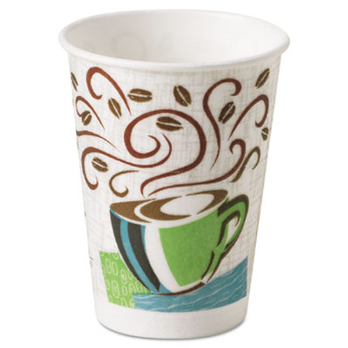 Dixie Hot Cups, Paper, 8oz, Coffee Dreams Design, 500/Carton (DIX 5338DX)