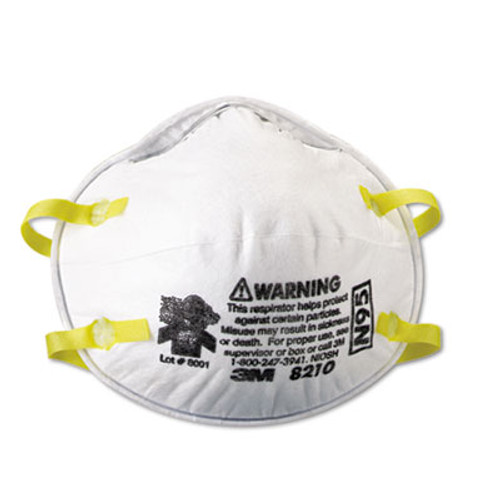 3M Lightweight Particulate Respirator 8210, N95, 20/Box (MCO 46457)