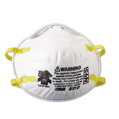 3M Lightweight Particulate Respirator 8210, N95, 20/Box (MCO 46457)