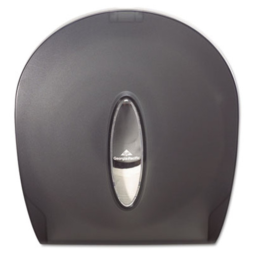 Georgia Pacific Professional Jumbo Jr. Bathroom Tissue Dispenser, 10 3/5x5 39/100x11 3/10, Translucent Smoke (GPC 590-09)