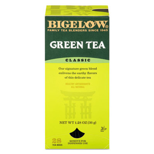 Bigelow Single Flavor Tea, Green, 28 Bags/Box (BTC00388)