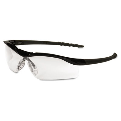 MCR Safety Dallas Wraparound Safety Glasses, Black Frame, Clear Lens (MCR DL110)