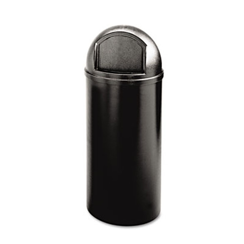Rubbermaid Marshal Classic Container, Round, Polyethylene, 25gal, Black (RCP 8170-88 BLA)