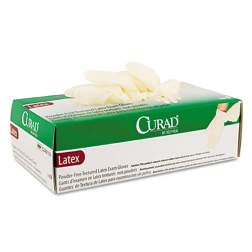 Curad Latex Exam Gloves, Powder-Free, Medium, 100/Box (MIICUR8105)