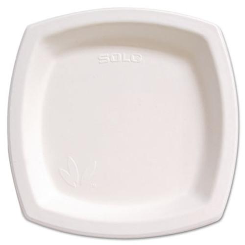 "Dart Bare Eco-Forward Sugarcane Dinnerware, 8 1/4"" Plate, Ivory, 125/Pk (SCC8PSC2050PK)"