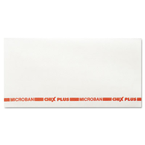 Chix Food Service Towels, 13 1/2 x 24, White/Red, 72/Carton (CHI 8290)