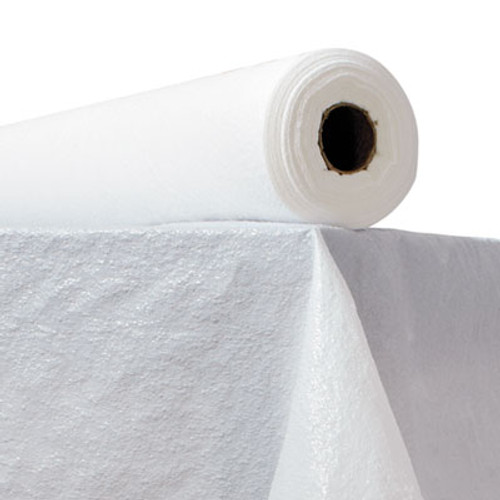 "Atlantis Plastics Plastic Table Cover, 40"" x 300ft, White (ATL2TCWPBL)"