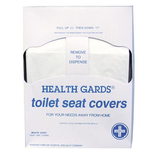HOSPECO Health Gards Quarter-Fold Toilet Seat Covers, White, Paper, 200/PK, 25 PK/CT (HOS HG-QTR-5M)