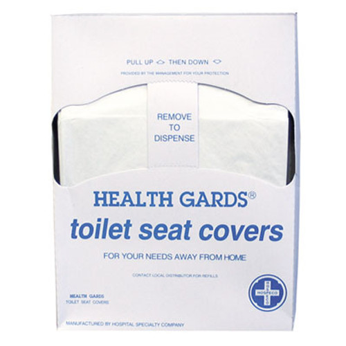 HOSPECO Health Gards Quarter-Fold Toilet Seat Covers, White, Paper, 200/PK, 25 PK/CT (HOS HG-QTR-5M)