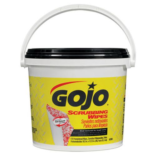 GOJO Scrubbing Towels, Hand Cleaning, White/Yellow, 170/Bucket (GOJ 6398-02)