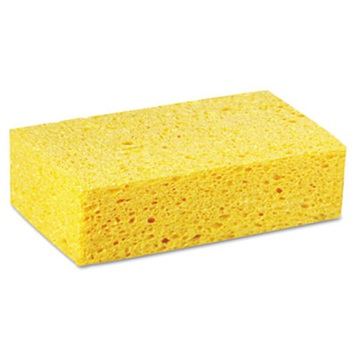Boardwalk Large Cellulose Sponge, 4 3/10 x 7 4/5, Yellow, 24/Carton (PAD CS3)