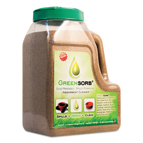 GreenSorb Eco-Friendly Sorbent, Clay, 4 lb Shaker Bottle (BCGGS4)