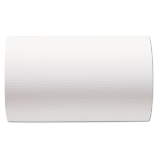Georgia Pacific Hardwound Paper Towel Roll, Nonperforated, 9 x 400ft, White, 6 Rolls/Carton (GPC 266-10)