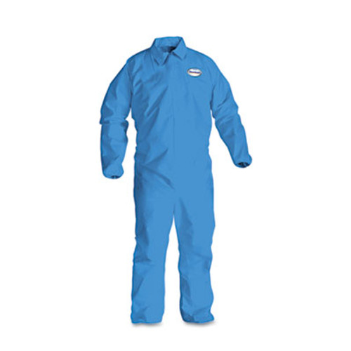 KleenGuard* A60 Elastic-Cuff, Ankle & Back Coveralls, Blue, X-Large, 24/Case (KCC 45004)