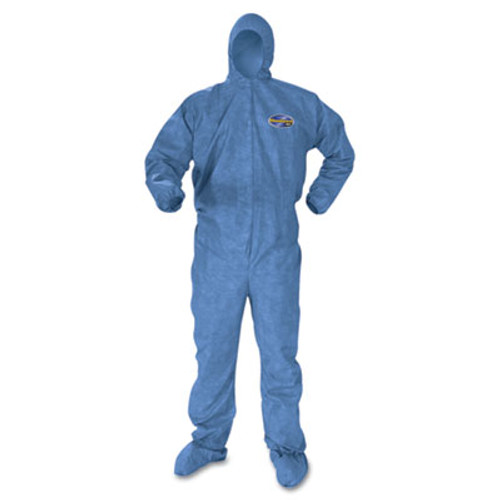 KleenGuard* A60 Blood and Chemical Splash Protection Coveralls, 2X-Large, Blue, 24/Carton (KCC 45095)