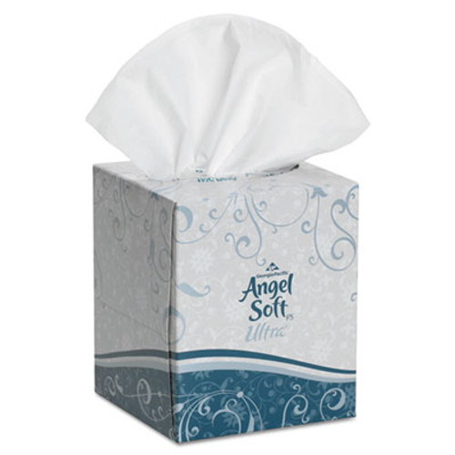 Georgia Pacific Ultra Premium Facial Tissue, White, 7 3/5 x 8 1/2, 96/Box, 36 Boxes/Carton (GPC 465-60)
