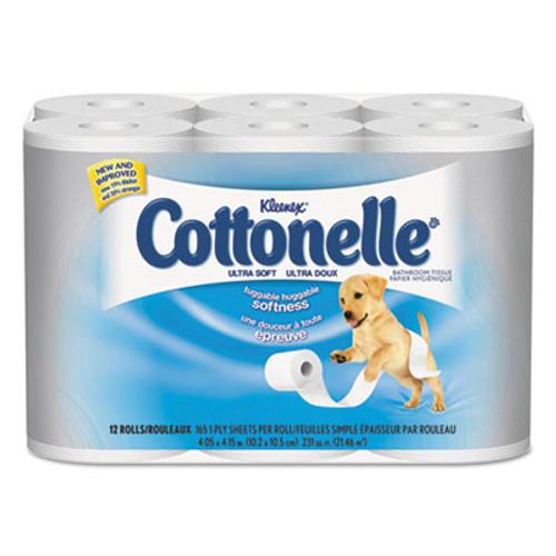 Cottonelle Ultra Soft Bath Tissue, 1-Ply, 165 Sheets/Roll, 48/Carton (KCC 12456)