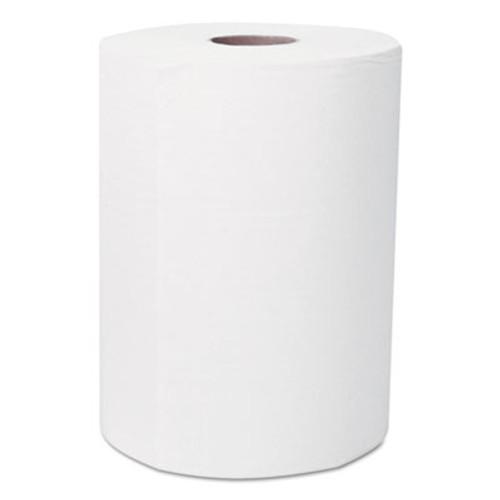 "Scott Slimroll Hard Roll Towels, Absorbency Pockets, 8"" x 580ft, White, 6 Rolls/Carton (KCC 12388)"