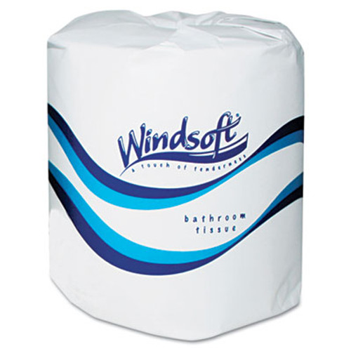 Windsoft Single Roll Two Ply Premium Bath Tissue, 24 Rolls/Carton (WIN 2400)