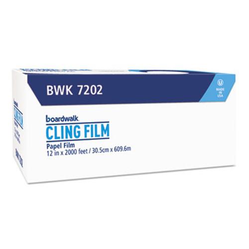 """Boardwalk PVC Food Wrap Film, 12"""" x 2000ft Roll (BWK 7202)"""