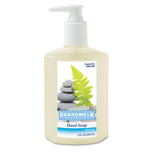 Boardwalk Liquid Hand Soap, Floral, 8 oz Pump Bottle (BWK 8500)