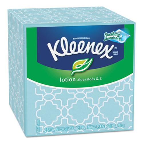 Kleenex Lotion Facial Tissue, 2-Ply, 75 Sheets/Box, 27 Boxes/Carton (KCC 25829)