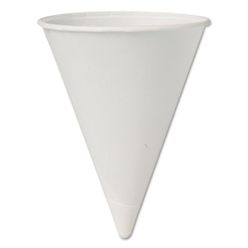 Dart Bare Eco-Forward Paper Cone Water Cups, 4oz, White, 200/Pack, 25 Packs/Carton (SCC 4BR-BB)