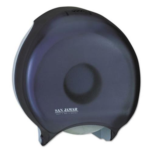 "San Jamar Single 12"" JBT Bath Tissue Dispenser, 1 Roll, 12 9/10x5 5/8x14 7/8, Black Pearl (SAN R6000TBK)"