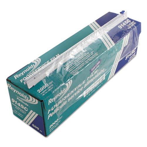 "Reynolds Wrap PVC Food Wrap Film Roll in Easy Glide Cutter Box, 18"" x 2000 ft, Clear (REY 914SC)"