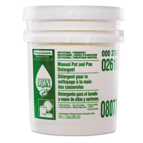 Dawn Manual Pot & Pan Dish Detergent, Lemon Scent, Liquid, 5 gal. Pail (PGC 02618)