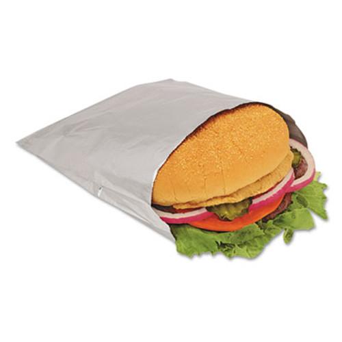 Bagcraft Foil Sandwich Bags, 6 x 3/4 x 6 1/2, Silver, 1000/Carton (BGC 300533)